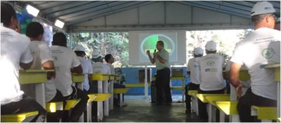 Treinamentos e palestras ministradas aos participantes